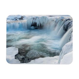 Cascade de Godafoss, hiver, Islande 2 Magnet Flexible