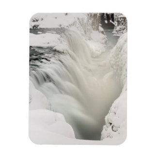 Cascade de Godafoss, hiver, Islande Magnet Flexible