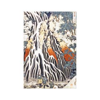 Cascade de Kirifuri sur le bâti Kurokami dans Toiles