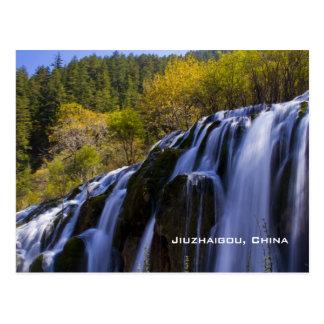 Cascade gigantesque en Chine Jiuzhaigou Carte Postale
