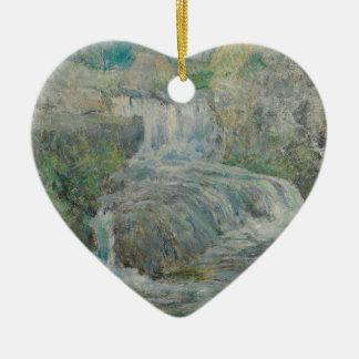 Cascade - John Henry Twachtman Ornement Cœur En Céramique