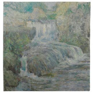 Cascade - John Henry Twachtman Serviette Imprimée