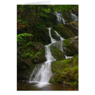 Cascade jumelle de Berkshires de cascade Carte De Vœux