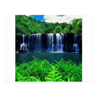 Cascade Kauai reculé Carte Postale