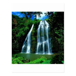 Cascade Opaekaa Kauai Hawaï Carte Postale