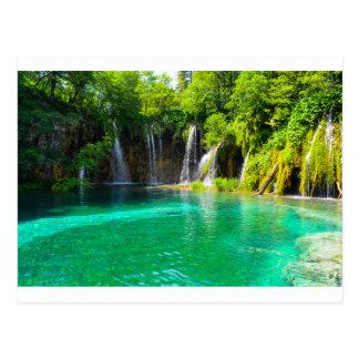 Cascades au parc national de Plitvice en Croatie Carte Postale