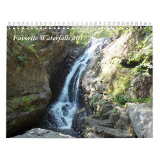 Cascades préférées 2017 calendriers muraux