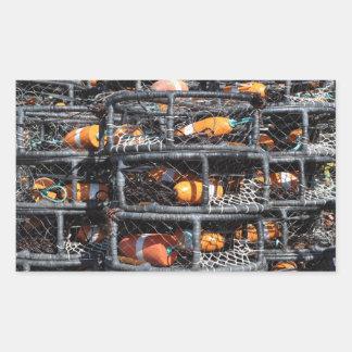 Casiers empilés pour la pêche sticker rectangulaire