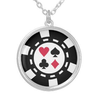 Casino de jetons de poker pendentif rond