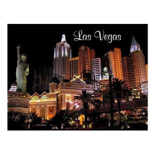 Casinos de bande de Las Vegas, carte postale du Ne