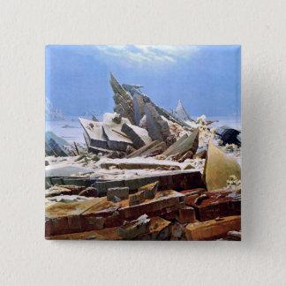 CASPAR DAVID FRIEDRICH - la mer de la glace 1824 Badges