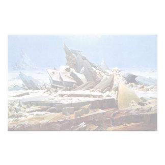 CASPAR DAVID FRIEDRICH - la mer de la glace 1824 Papier À Lettre Customisé