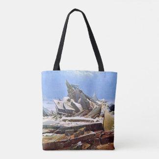 CASPAR DAVID FRIEDRICH - la mer de la glace 1824 Tote Bag