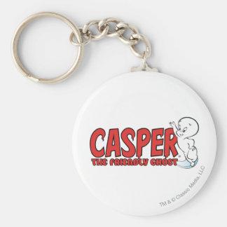 Casper le logo rouge 2 de fantôme amical porte-clé rond
