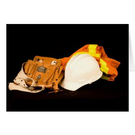Casque antichoc de gilet de sécurité de ceinture d carte de vœux