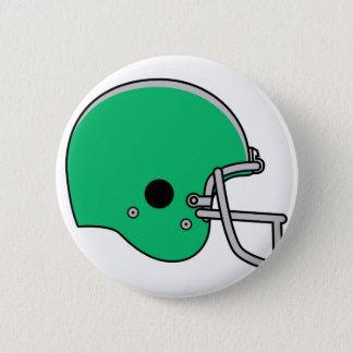 Casque de football vert badges