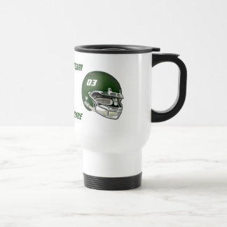 Casque de football vert mug de voyage
