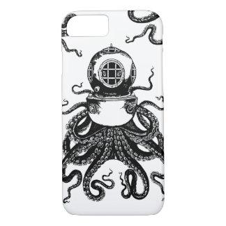 casque de plongée de Kraken de poulpe de Steampunk Coque iPhone 7