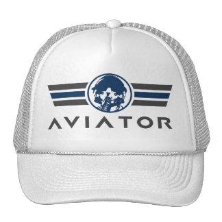 Casque et masque de pilote d'avion de chasse casquette trucker
