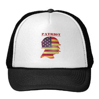 Casque patriotique de militaires de drapeau casquettes de camionneur