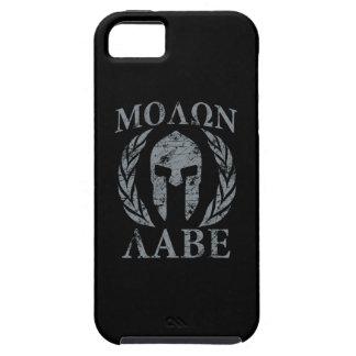 Casque spartiate grunge de Molon Labe iPhone 5 Case