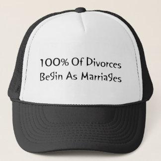 Casquette 100% des divorces commencent comme mariages