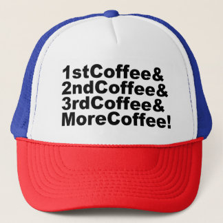 Casquette 1stCoffee&2ndCoffee&3rdCoffee&MoreCoffee ! (noir)