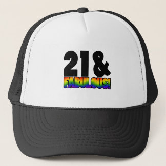 Casquette 21ème anniversaire d'homosexuel fabuleux