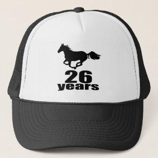 Casquette 26 ans de conceptions d'anniversaire