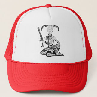 Casquette 70's pin-up skull
