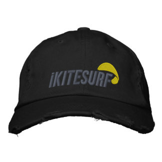 casquette affligé par noir d'iK