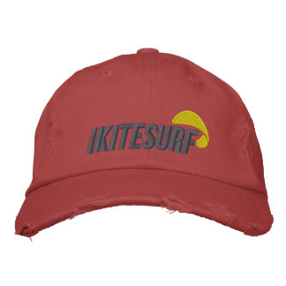 casquette affligé par rouge d'iK