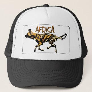 Casquette africain de safari de chien sauvage