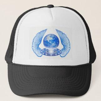 Casquette Ailes angéliques bleues de la terre de planète