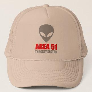 Casquette Alien de gris du SECTEUR 51