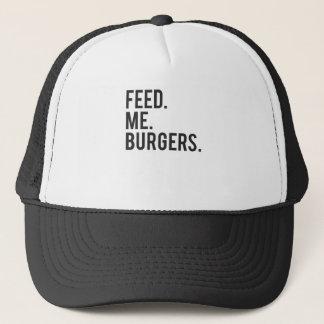 Casquette Alimentez-moi la copie d'hamburgers