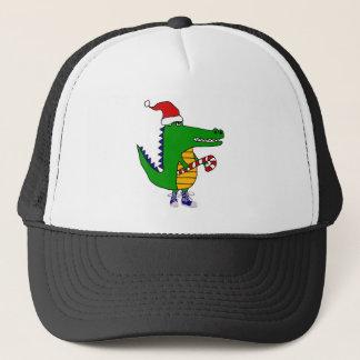 Casquette Alligator mignon dans la bande dessinée de Noël de