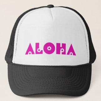 Casquette Aloha en fleurs roses
