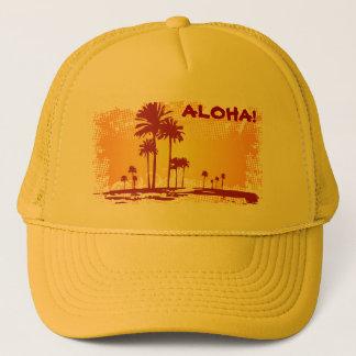 Casquette ALOHA plage de Tropiacl avec des palmiers