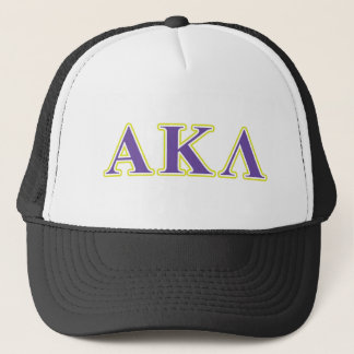 Casquette Alpha lettres de pourpre du Kappa lambda