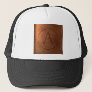 Casquette alphabet cuir lettre A