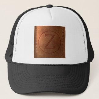Casquette alphabet cuir lettre Z