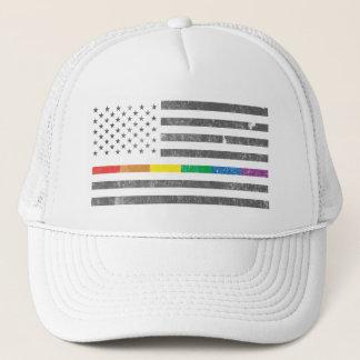 Casquette américain de camionneur de drapeau de