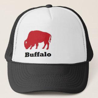 Casquette américain rouge de camionneur de Buffalo