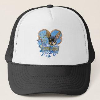 Casquette Amour de chiwawa au coeur bleu
