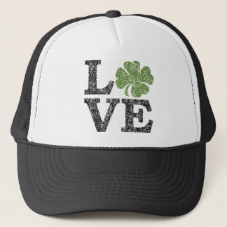 Casquette AMOUR de Jour de la Saint Patrick avec le shamrock