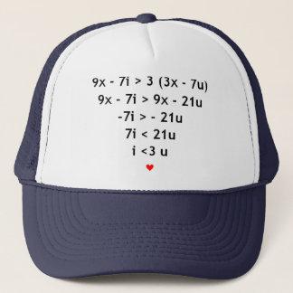 Casquette Amour mathématique
