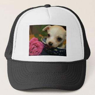 Casquette Amour rose de fleur de chiwawa