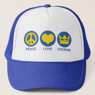 Casquette Amour Sverige de paix