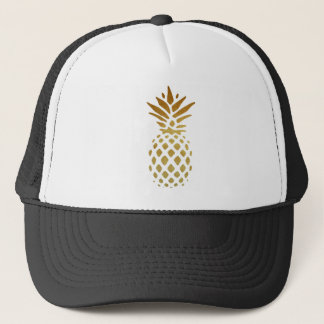 Casquette Ananas d'or, fruit en or